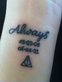 ALways dates and Harry Potter tattoo