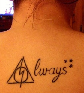 Accio always black Harry Potter tattoo