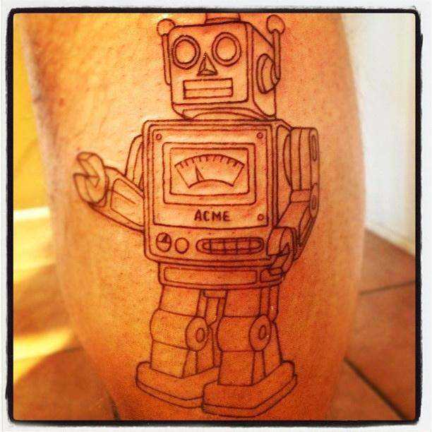 Acme black robbot tattoo