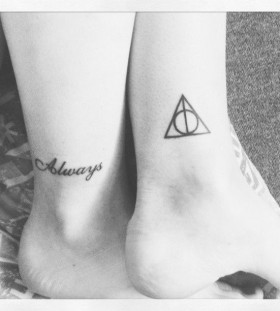 Always ornaments Harry Potter tattoo