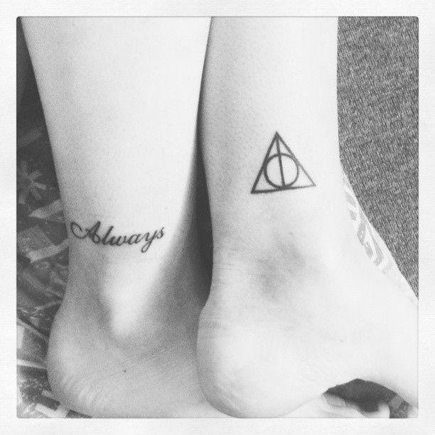 Always ornaments Harry Potter tattoo