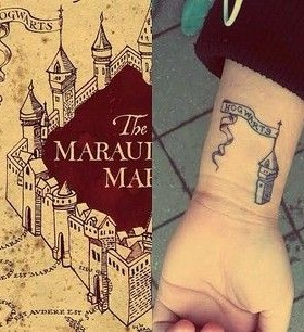 Awesome castle and Harry Potter tattoo