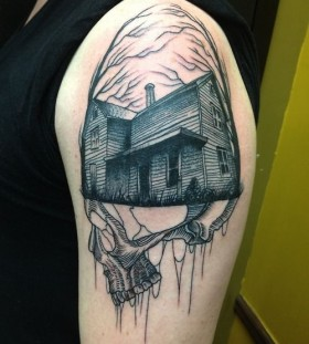 Awesome looking house tattoo