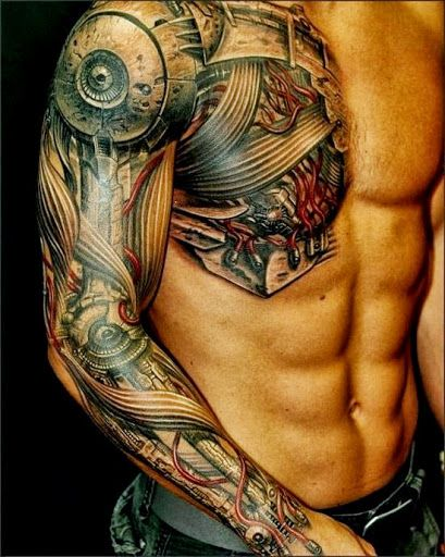 Awesome looking robbot tattoo