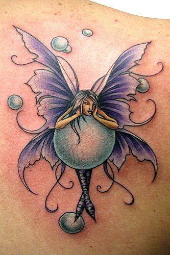 Beautiful fairy bubbles tattoo