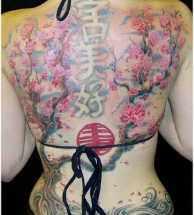 Best back women's chinese style tattoo