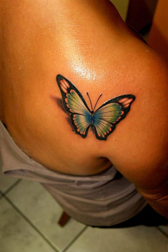 Best butterfly green tattoo