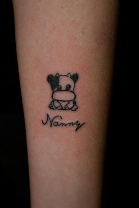 17d174c35 Black gorgeous cow tattoo - | TattooMagz › Tattoo Designs / Ink ...