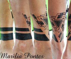 Black legs tattoo by Marilia Pontes