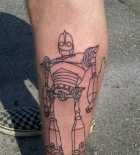 Black lines robbot tattoo