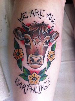 f8e9093d4 Brown black cow tattoo - | TattooMagz › Tattoo Designs / Ink Works ...