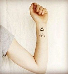 Cute hand Harry Potter tattoo