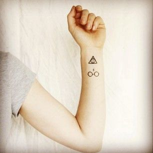 Cute hand Harry Potter tattoo