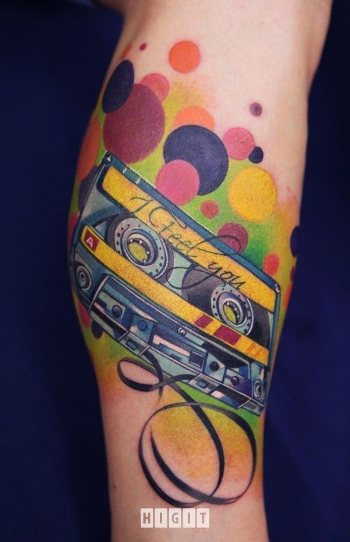 Feel you colorful bubbles tattoo