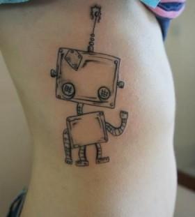 Good looking black robbot tattoo