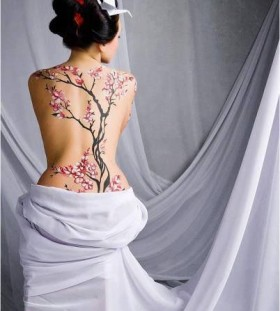 Gorgeous women's chinese style tattoo