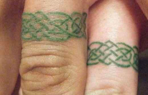 Great wedding rings green tattoo