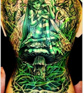 Imagination girl green tattoo