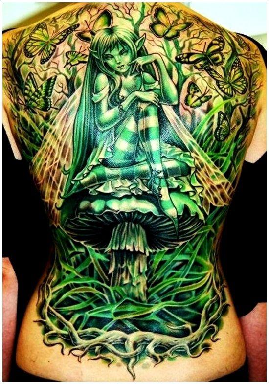 Imagination girl green tattoo