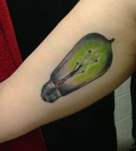 Incredible black and green tattoo