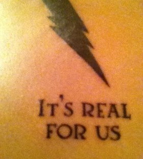 It's real for us Harry Potter tattoo