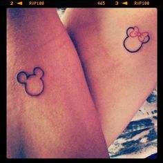 Lovely Mickey Mouse tattoo on arm