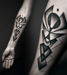 Lovely black robbot tattoo
