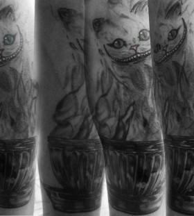 Lovely cats tattoo by Marilia Pontes