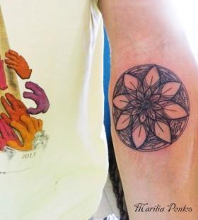 Mandala style tattoo by Marilia Pontes