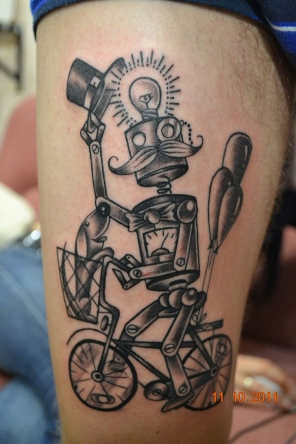 Mister black robbot tattoo