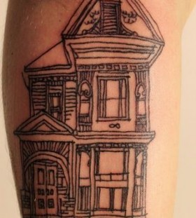 Pretty black house tattoo