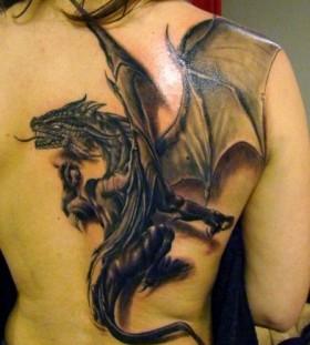 Sick dragon chinese style tattoo