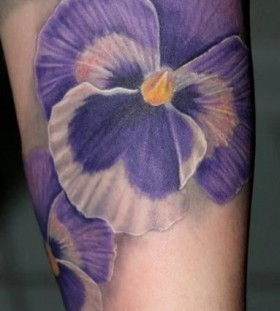 White adorable purple tattoos