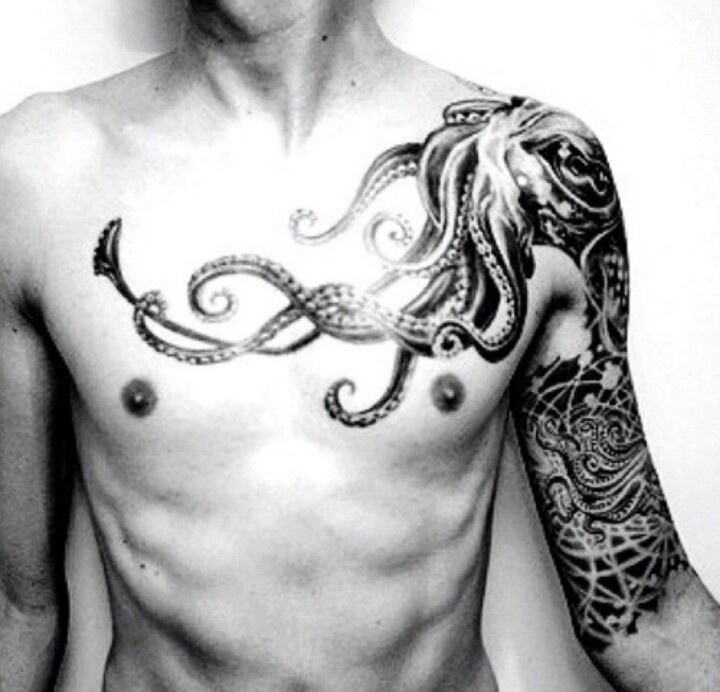 Octopus tattoos on arms