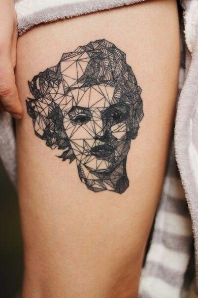 Geometrics tattoos on legs