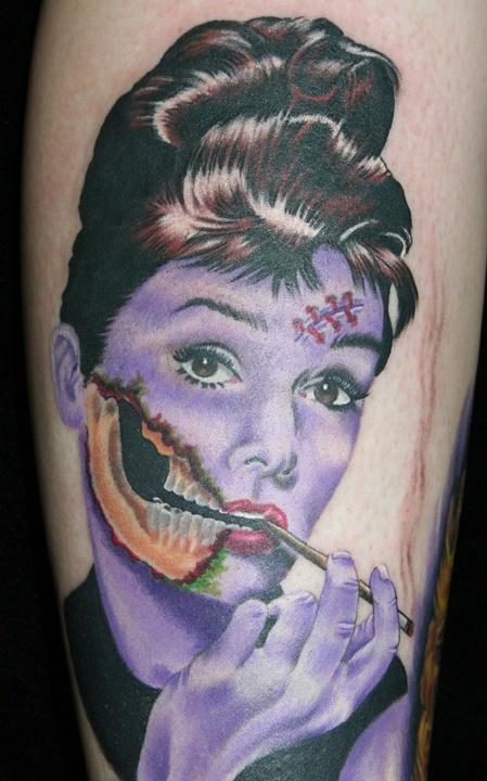 audrey zombie tattoo