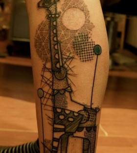 black and white giraffee tattoo