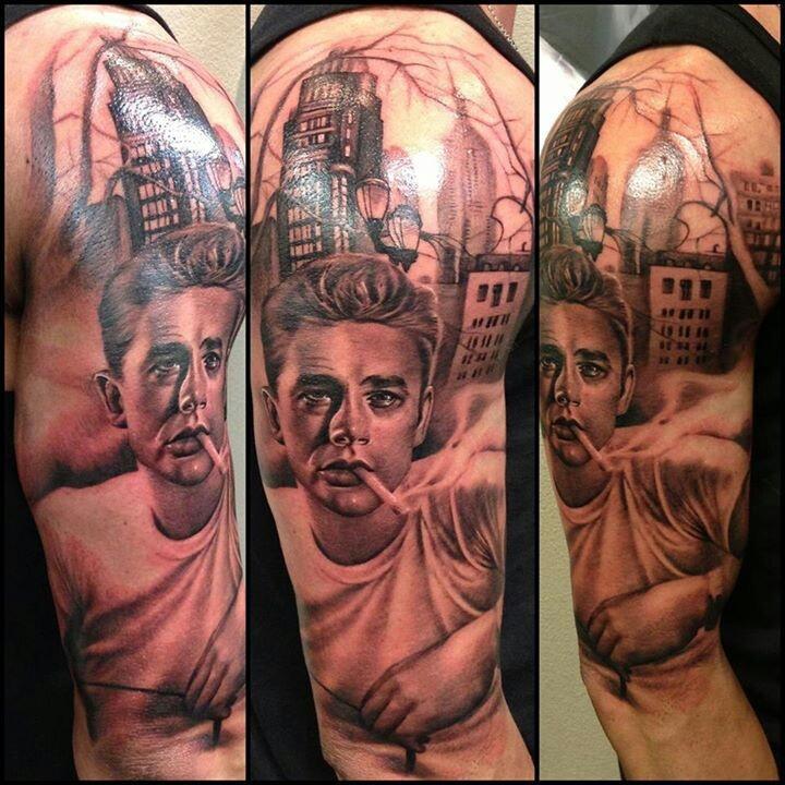james dean tattoo on arm