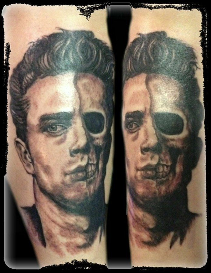 james dean with one eye tattoo