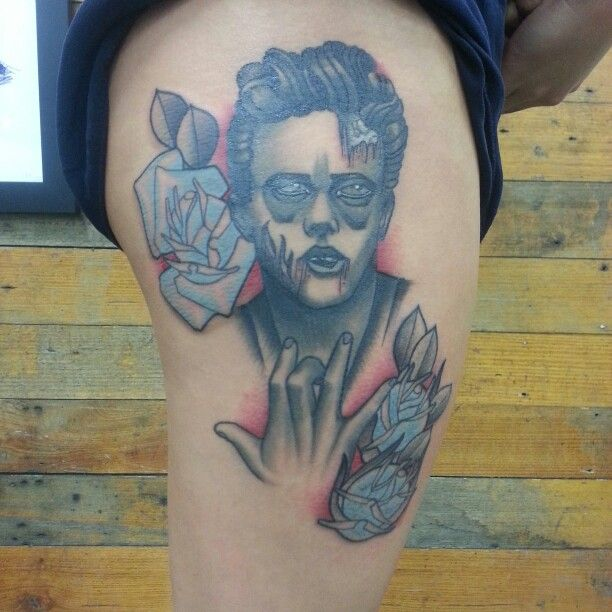 james dean zombie tattoo