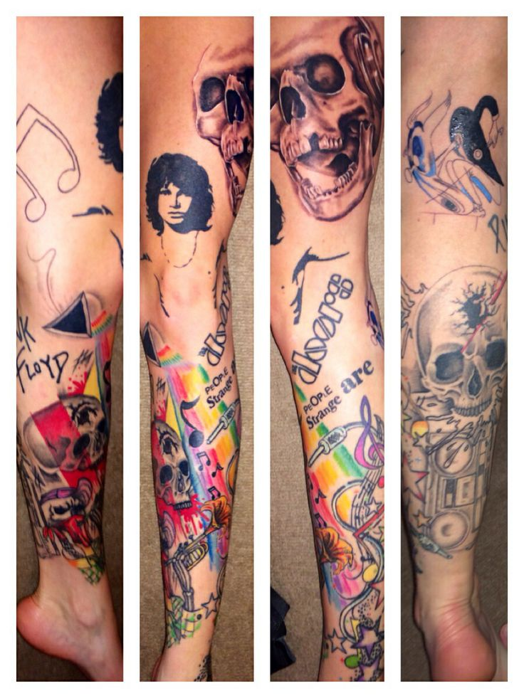 The Doors, Jim Morrison, skull tattoo. | Photo's ...