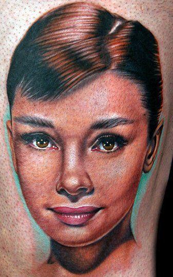 multicolor audrey tattoo