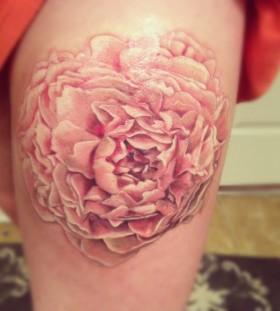pink peony tattoo