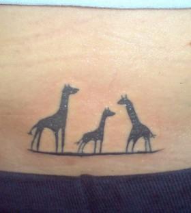 three giraffe tattoo