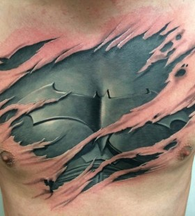 3D batman effect on chest