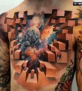 3D space illusion on chest