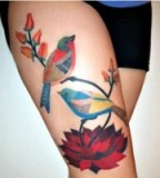 Lovely Birds Tattoo Design