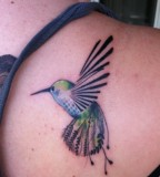 Hummingbird Tattoo Bird on Shoulder