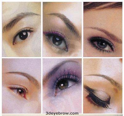 3D Effect Permanent Eyebrow Tattoo Design Ideas