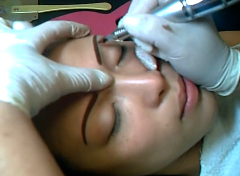 Chinese Popular 3D Eyebrows Tattoo for Women